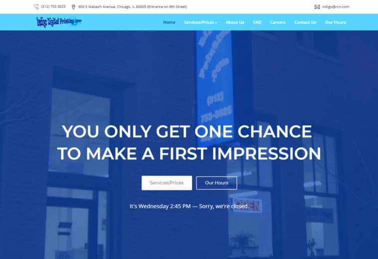 Indigo Digital Printing – Website