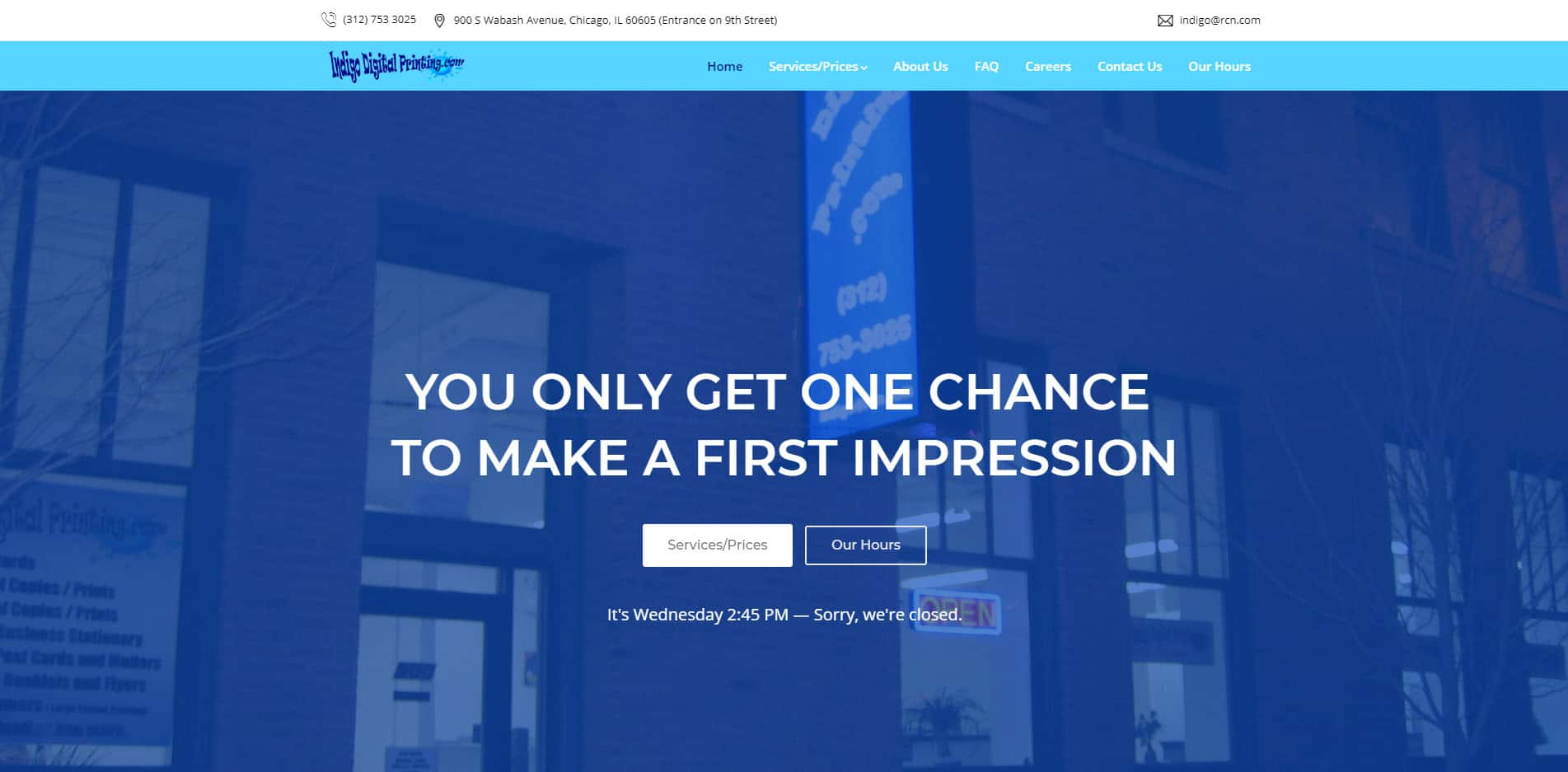 Indigo Digital Printing – Website